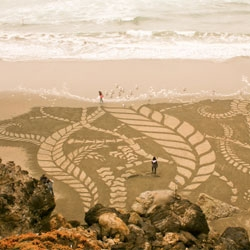 Sand Paintings by Andres Amador.