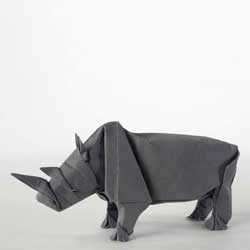 Origami Rhino Unfolding with origami by Sipho Mabona and animation by Stoptrick Hamburg.