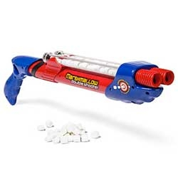 The double barrel marshmallow shooter, when one barrel of marshmallows just isn't enough.