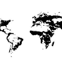 Derek Watkins visualizes human population density across the world.