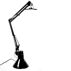 Student Louis Rensch turns the classic angelpoise lamp on its head.