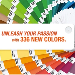 Pantone introduces 336 new colors in 'The Plus Series', for a new total of 1677 colors!