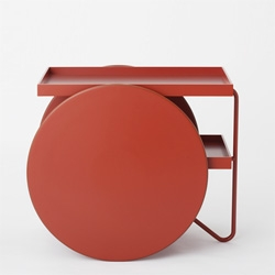 Chariot, a cute wheeled tray/side table by Gam Fratesi for Casamania.
