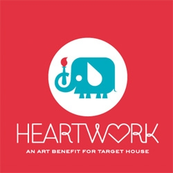 Heartwork, an art benefit for target house featuring beautiful prints.