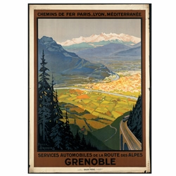 "The Boston Public Library's Print Department is home to more than 350 vintage travel posters, most dating from the 1920s-1940s, the ""Golden Age of Travel."" And you can purchase prints!"