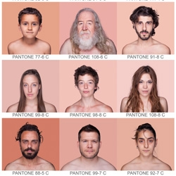 Humanae series from Angelica Dass applies the Pantone color system to human skin tones.
