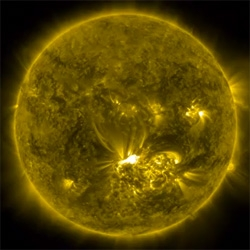 NASA's incredible footage of the X1.4-Class Solar Flare on July 12, 2012.