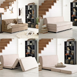West Elm's convertible sofa ~ a fun solution for small spaces