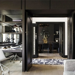 A sleek contemporary home in an art deco Melbourne residence from Mim Design.
