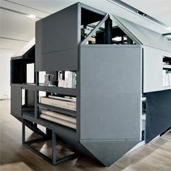 Verbandkammer, a modular workspace/storage container by Nilsson Pflugfelder.