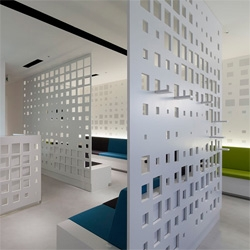 Love the screens at G Clinic 7f by KORI architecture office.