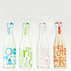 Pretty cocktail soda packaging by Miriam Altamira.