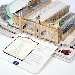 A pop up of Kings Cross in Discovering King's Cross: A Pop-Up Book from Cicada.