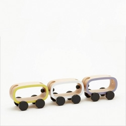 Buchi, a new line of wooden children's toys designed by Fumie Shibata.