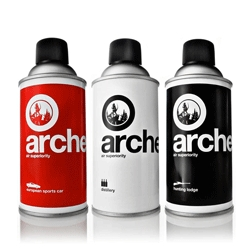 Archer Air Superiority, a manly line of room sprays. Why should your lounge smell like flowers when you could choose from European Sports Car, Distillery and Hunting Lodge?