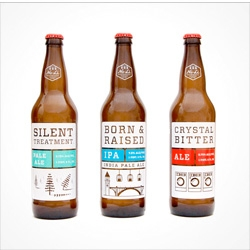 Riley Cran's cute packaging for No-Li brewery.