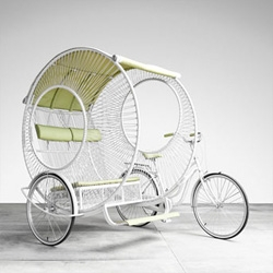 Kenneth Cobonpue's beautiful take on the rickshaw, Eclipse.