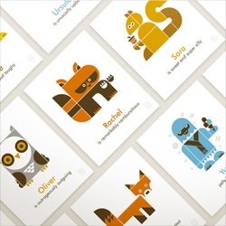 Adorable personalized Wee Alphas prints!