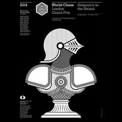 Gorgeous branding and identity work by Pentagram for the World Chess Championships.