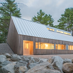 Moore Studio  in rural Nova Scotia by Omar Gandhi.