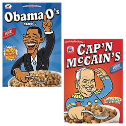 Political Cereal??? Obama O's or Capn McCains? One has hope in every bowl, the other has mavericks in every bite!
