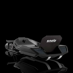 The sleek, high performance carbonfiber Snolo sled.
