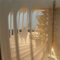 Yusuke Oono creates a gorgeous Christmas version of the 360 degree book.