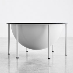 "MOONLAND, the coffee table and container designed by Marco Guazzini. Exhibited at the Design Market area of ""Abitare il Tempo"", Verona 2012."
