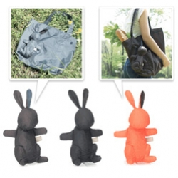 Picnica Reusable Tote ~ that stuffs into a bunny! And when you're using it, the bunny is attached to the side... hilarious, bizarre, and strangely appealing... definitely a standout design in the reusable shopping bag space!