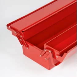 The super tough USAG 646 toolbox, made from sheet steel and containing 3 compartments.