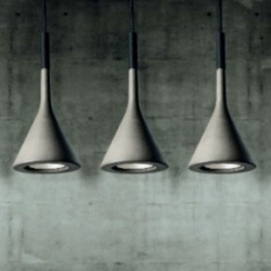 Deconstructing the design of Foscarini's Concrete Aplomb Pendant Lamp.
