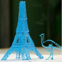 3Doodler, a Kickstarter campaign from Peter Dilworth and Max Bogue, is a 3D printing pen that allows users to hand draw in the air and creates a 3D plastic model.