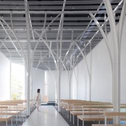 Hironaka Ogawa's Forest Chapel, a wedding chapel in Gunma, Japan.
