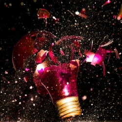 Beautiful high speed photo series of exploding light bulbs from Jon Smith.