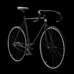 The Svart Bicycle by BikeID for MOMA with a sleek matte black frame and glossy black parts.