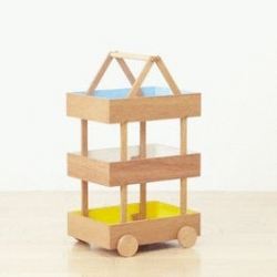 Torafu Architects' koloro-wagon to help kids stay organized, with it's cute, stackable trays..