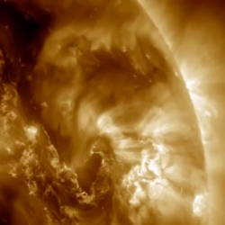 NASA releases footage of the sun's Canyon of Fire during late September.