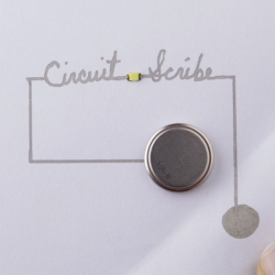 Circuit Scribe lets you draw your own circuits, making connections by drawing with a conductive ink. Interesting project from Electroninks Incorporated.