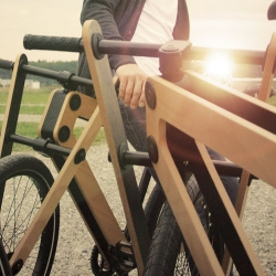 Bleijh Industrial's Sandwichbikes are now available. The bikes are made from CNC-milled flat wood and shipped flat-packed for self assembly.