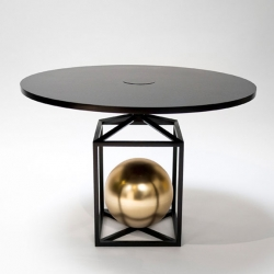 "POOL present the ""Contrepoids"" tables and the ""Maillet"" lamp as part of the Cabinet de Curiosités de Thomas Erber / Kitsuné in the Avant /Garde diaries project space."
