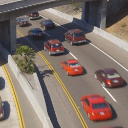 Cy Kuckenbaker sorts the San Diego traffic by color.