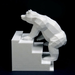 Bears on Stairs, an experiment in stop frame animation and 3D printing from DBLG.