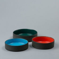 Handmade ceramic dog bowls by Nicholas Newcomb for Ware of the Dog.
