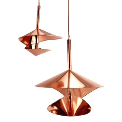 Copper Vogeli Bird feeders from Vasse and Peg Vaught.