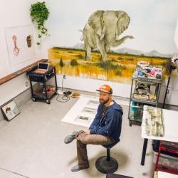 Juxtapoz visit the studio of artist Kevin Earl Taylor.