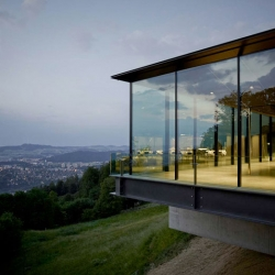 Gurten Pavilion in Bern by mlzd with stunning views of the Alps.