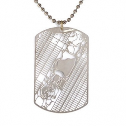 Urban Gridded Dogtag Jewelry featuring your favorite cities by Aminimal Studio.
