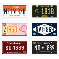 The State Plates Project, reimaginging the license plate designs of all 50 states.