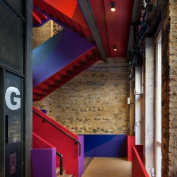 Beautiful remodel of the Donmar Warehouse's Donmar Drayden Street by Haworth Tompkins.