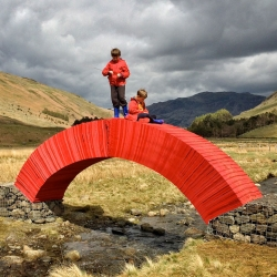 Paperbridge, an installation in the Lake District by Steve Messam is a bridge made from paper.